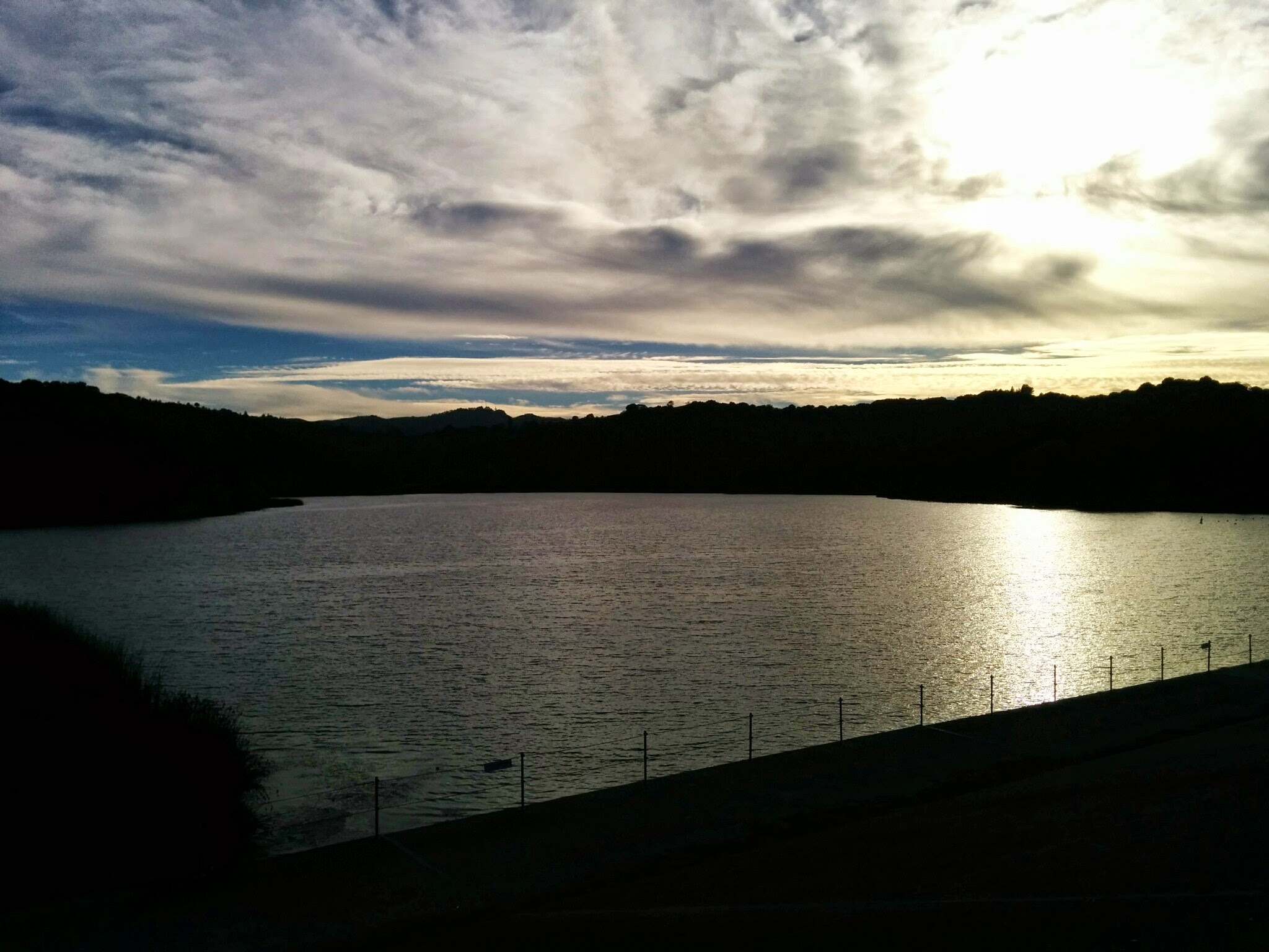Sunset at Lafayette reservoir